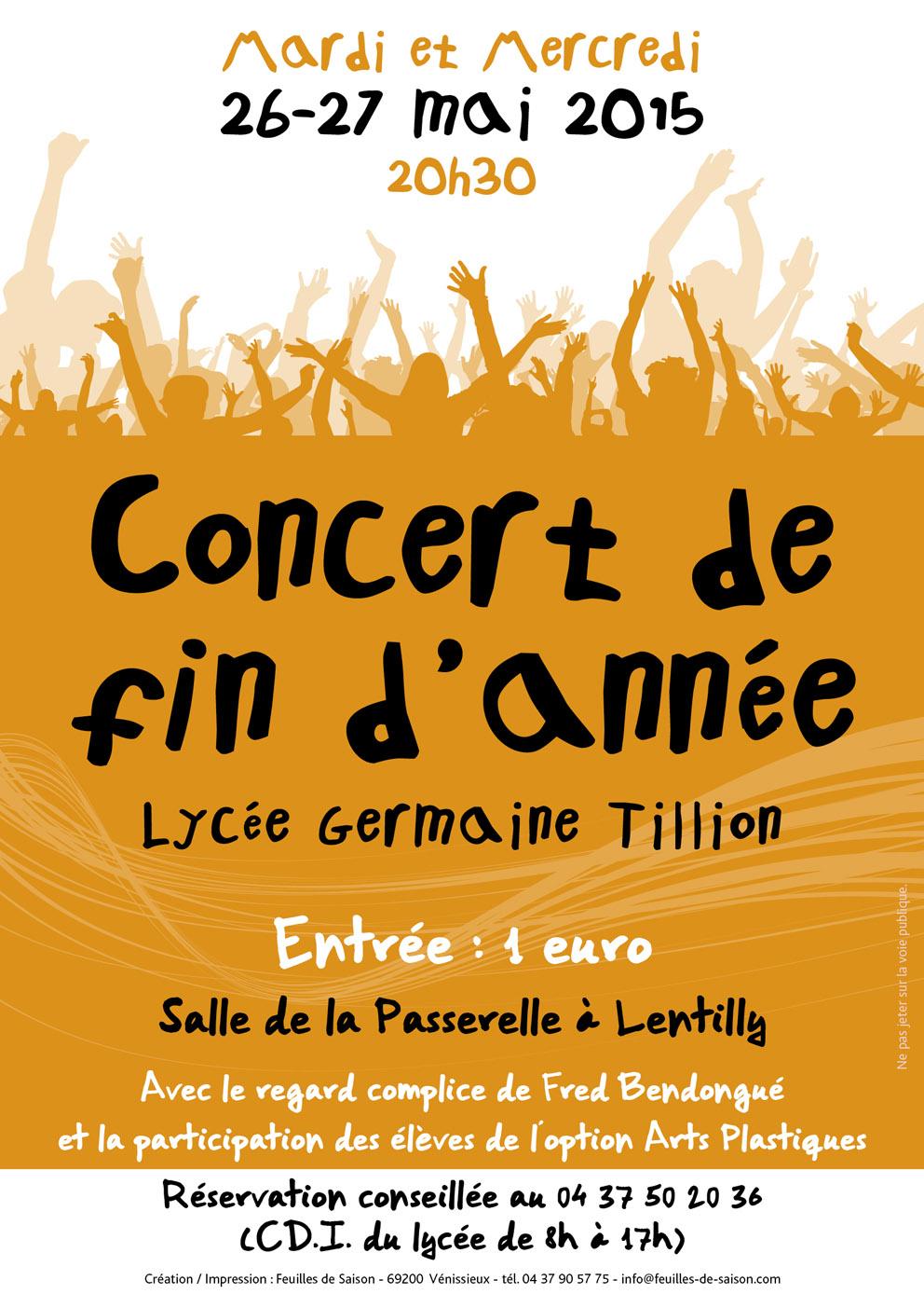 Concert lycée Sain Bel