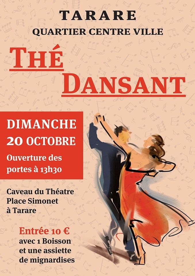 Affiche Thé Dansant 20 octobre 2019