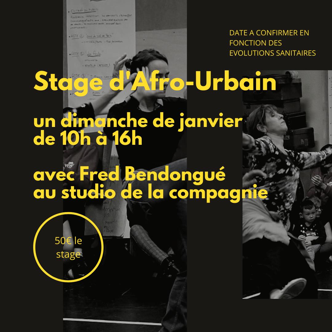 Stage d'Afro-Urbain Dimanche 10 janv de ...h à ...h avec Fred Bendongué (1)